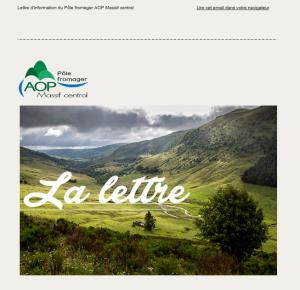 Lettre d'information du Pôle fromager